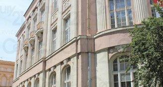 Historická budova staré banky v centru Teplic