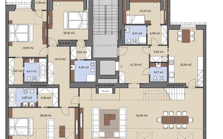 nový byt 9+1/B,T, 435m2, terasa 72m2 a balkony 5,7 a 1,8m2,  Staré Město/Josefov