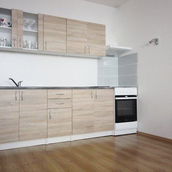 Pronájem prostorné novostavby se zahrádkou 1+KK, Slavkov u Brna