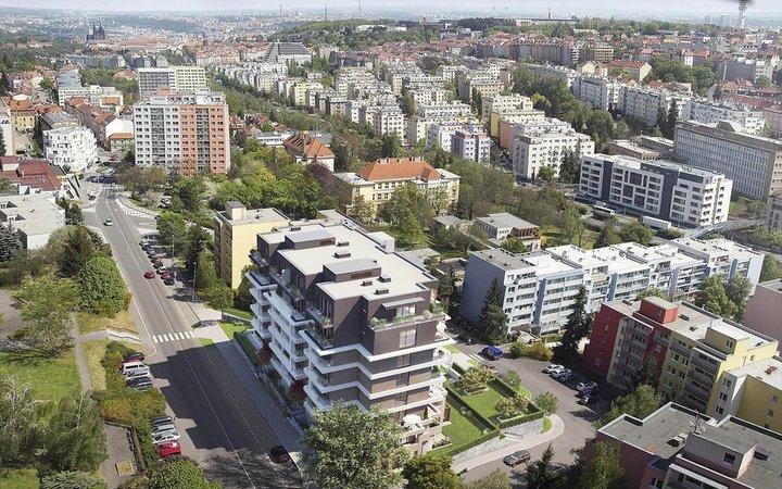Prodej nového bytu 4+kk, 120 m2 + 35 m2 terasa, balkon, Břevnov