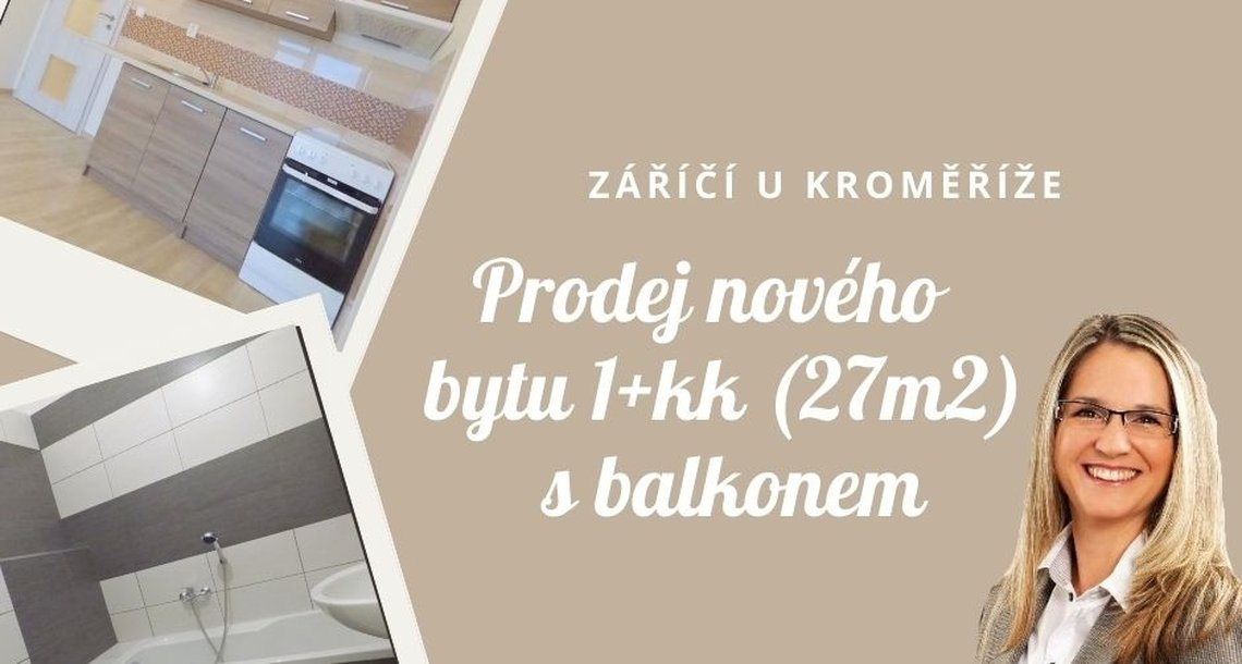 Záříčí byt 1kk s balkonem