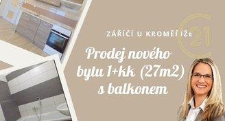 Prodej bytu 1+kk, 27m2, Záříčí u Kroměříže