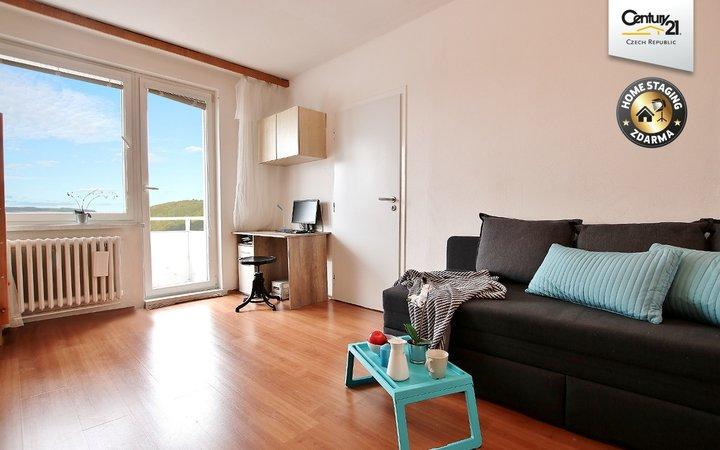 Pronájem bytu 1+1 s balkonem, Bystrc-Štouračova