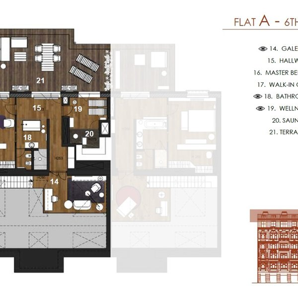 byt 6+1/B,T, 248m2, terasa 52m2, balkon 5,7m2, Staré Město/Josefov, Praha 1