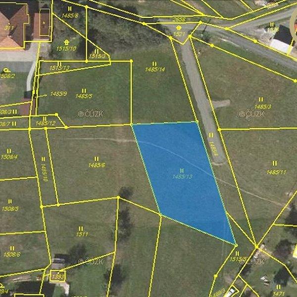 Nabídka stavební parcely (1 364 m2) Dolní Bečva