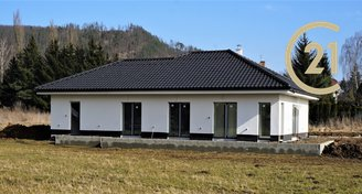 Novostavba bungalovu 4+kk s garáží a zahradou, Mladkov