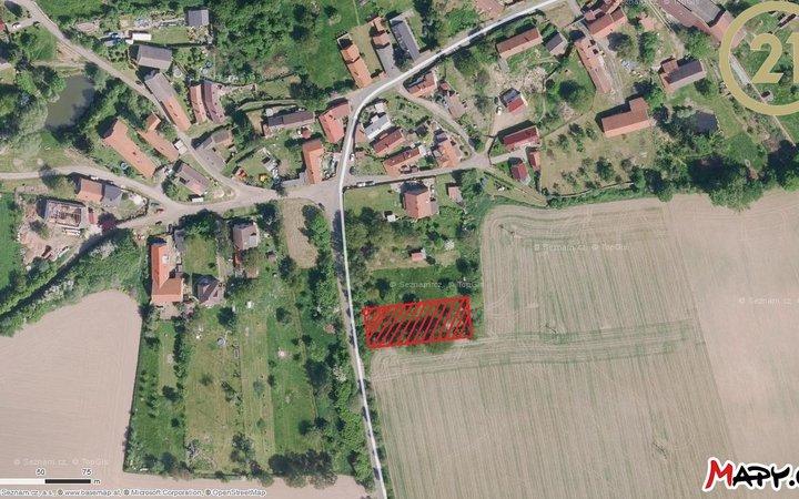 Pozemek 1205m2, Sobočice, okres Kolín