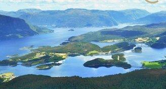 Prodej rybářského kempu 11 300m2, střední Norsko
