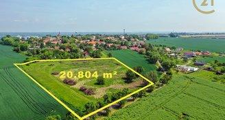 Pozemky k výstavbě (20 804 m²) u Mladé Boleslavi.