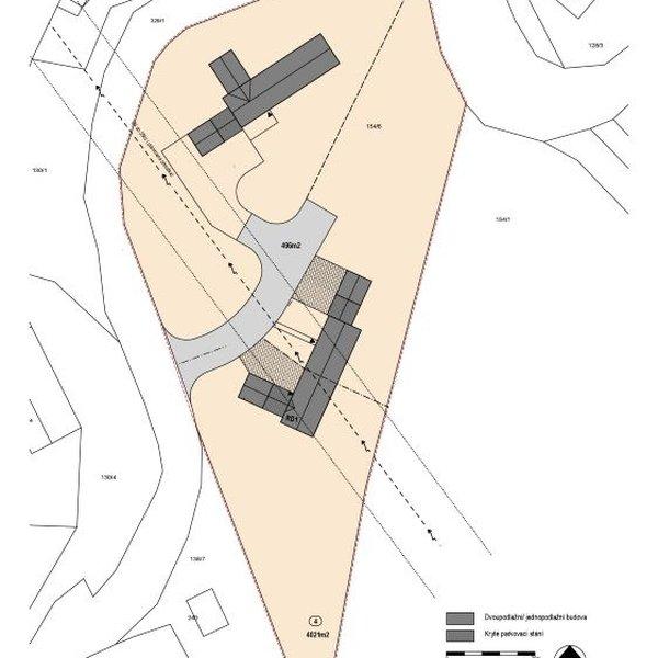 Pozemek 3 906 m2 pro stavbu RD, Račice, okr. Rakovník