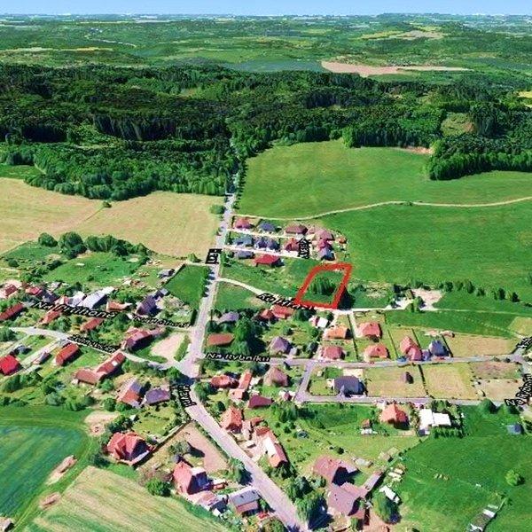 Stavební pozemek 2875m2 v Třemblatech, obec Ondřejov, Praha-východ