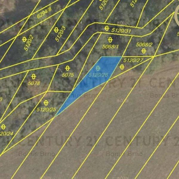 Stavební pozemek Hustopeče, CP 19865 m2