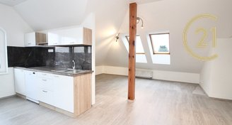 Pronájem, podkrovní byt 2kk, novostavba 4A, 51m2