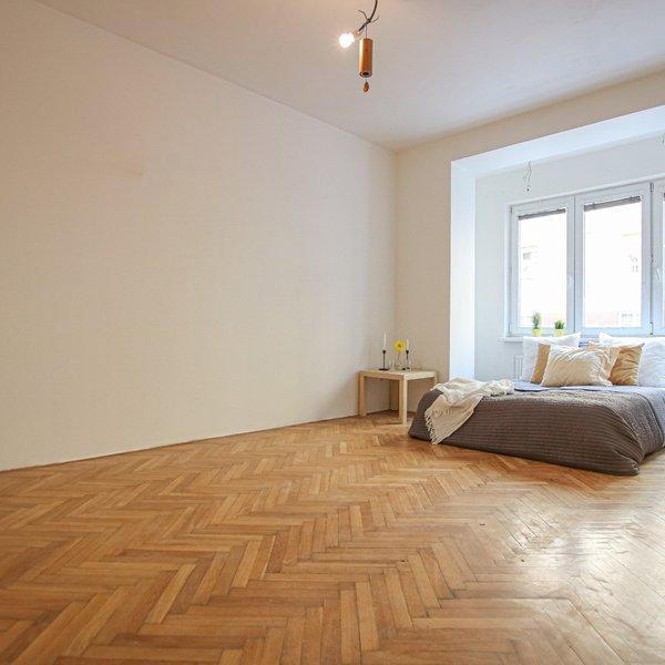 Prodej velkého bytu 1+1 v centru Brna na ulici Grohova