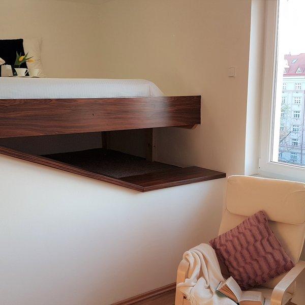 Pronájem prostorného bytu 1+kk, 30m² - Praha - Holešovice
