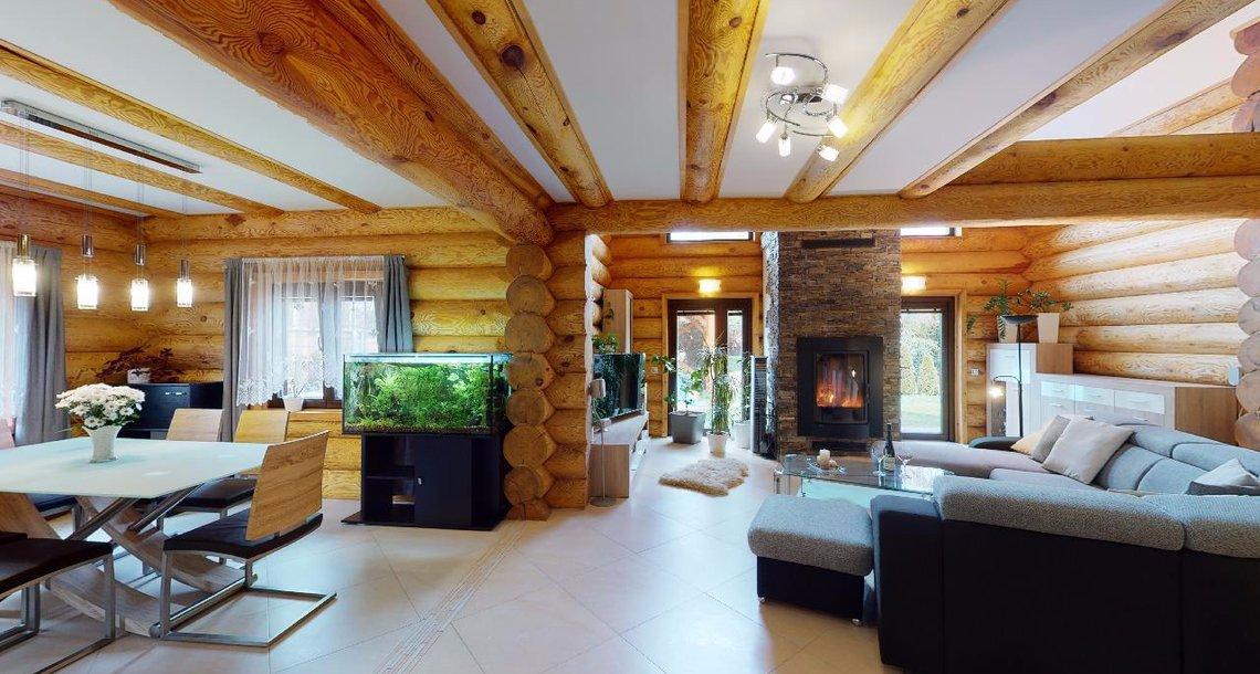 Jídelna + obývací prostor - dům A