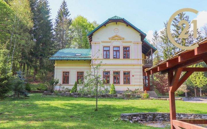 Dražba luxusní secesní vily v k.ú. Heřmanice v Podještědí