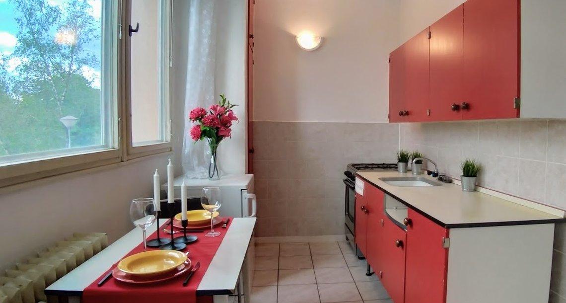 kuchyně s linkou