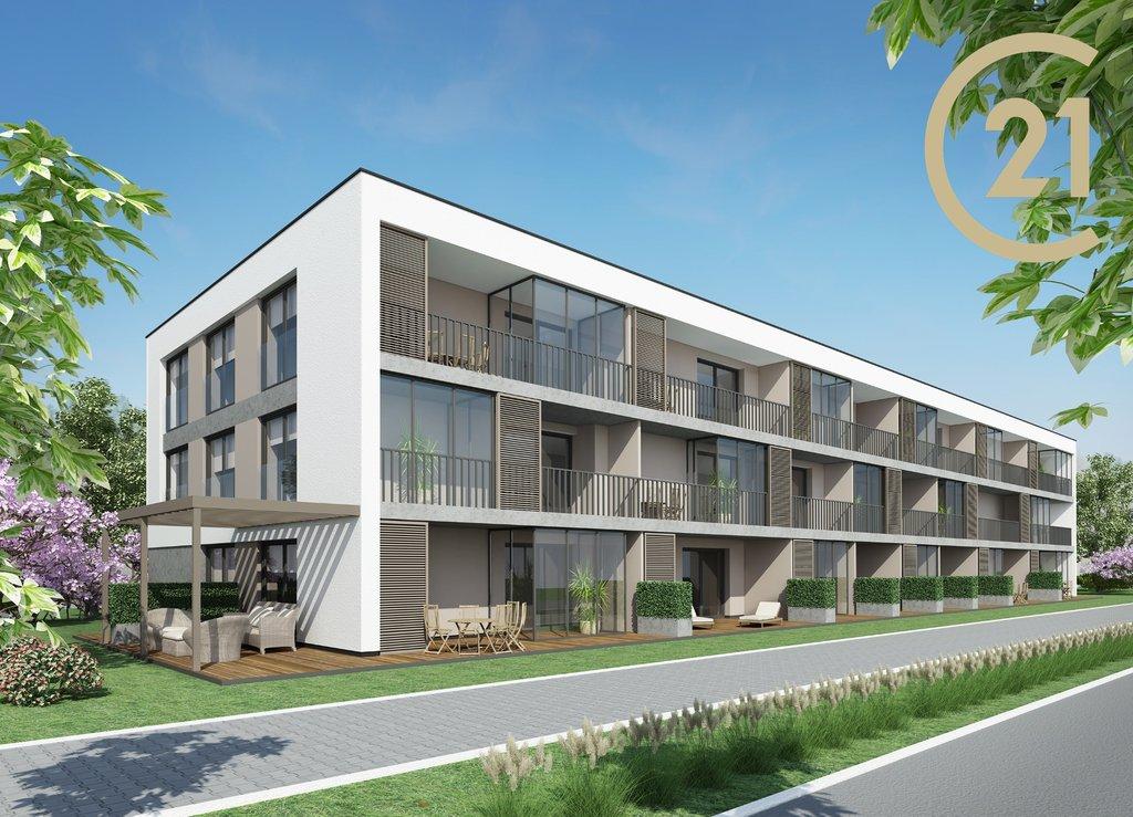 Nový byt 1+kk o výměře 43 m2, s terasou 7,01 m2,