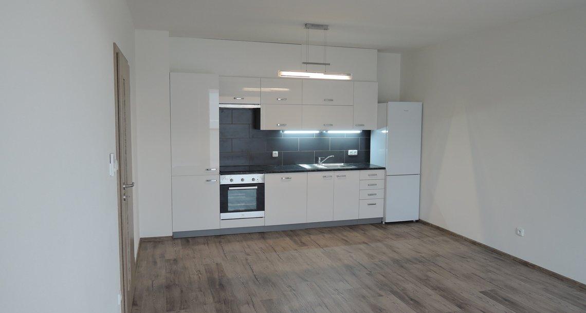 Obývací prostor s kuchyní