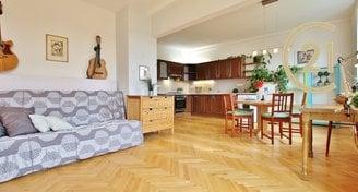 Prodej krásně zrekonstruovaného cihlového bytu 2+1 v Brně, na ulici Hrnčířská.