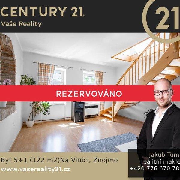 Mezonetový byt 5+1 122 m2 Na Vinici, Znojmo