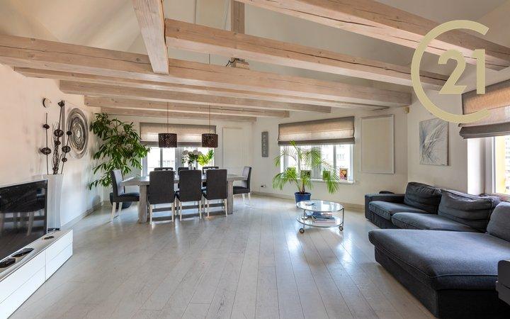 prodej bytu 3+1/T, 120m² plus terasa 15m2 plus dvě podzemní garážová stání, Praha 6 - Břevnov, OV