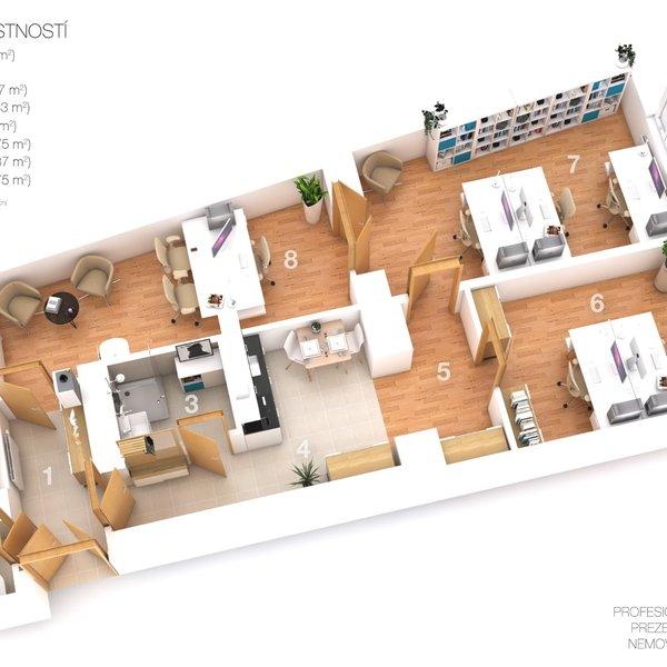Pronájem nebytového prostoru 3+1, 64m² - Praha - Vinohrady