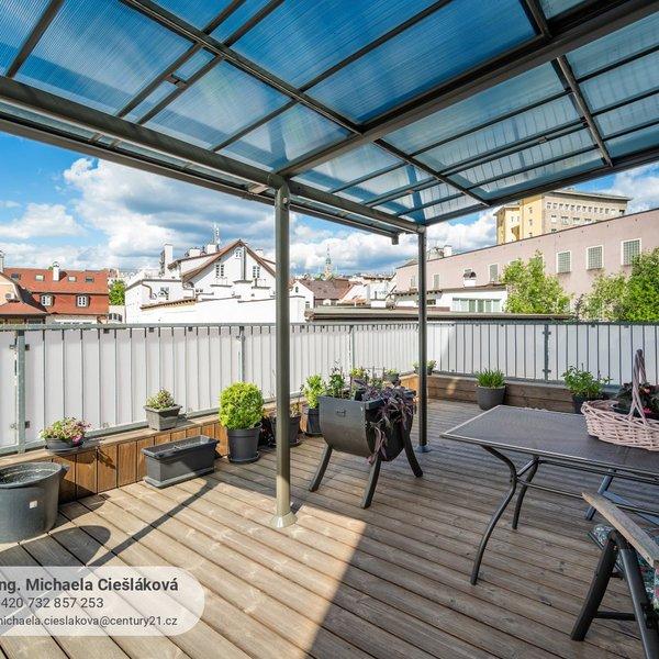 Prodej bytu 2+kk s terasou a garáží, 106 m2, Liberec - centrum