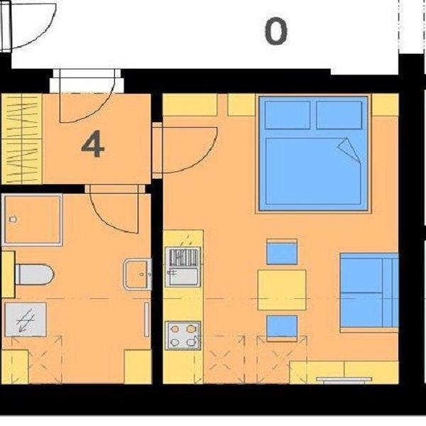 Byt s klimatizací 1+kk, 29 m², Brno - Staré Brno