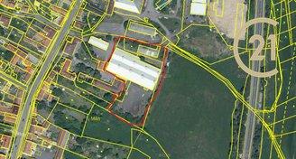 Prodej skladových hal 3 411 m2 a přilehlých pozemků