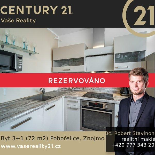 Prodej bytu 3+1 (72m²) , Tyršova, Pohořelice okres Brno - venkov