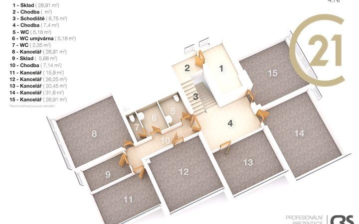 Pronájem komerčního prostoru 81 m² Stupkova - Olomouc