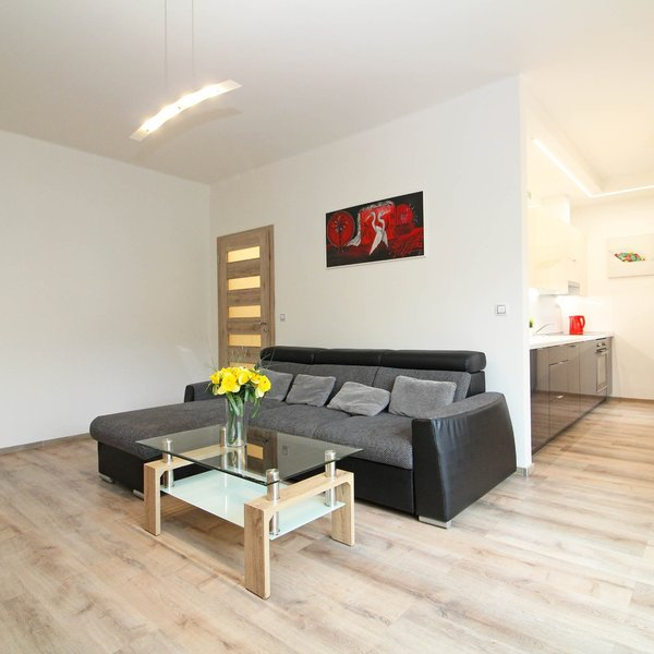 Pronájem zařízeného rekonst. bytu 2+kk, 52 m², + balkon, Praha 9 - Vysočany