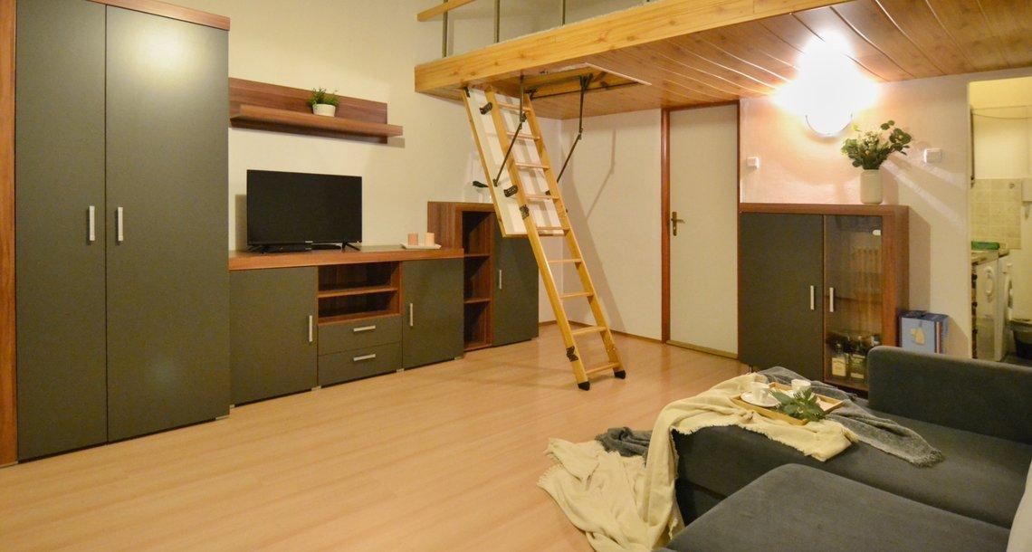 Obývací pokoj s patrem