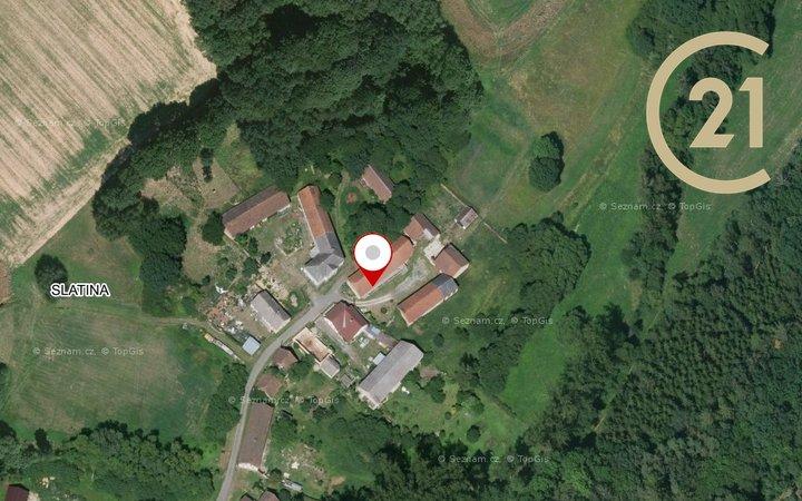 REZERVOVÁNO - Prodej zemědělské usedlosti s možností chovu koní (hosp. zvířat) na krásném místě, 5 + 1, obec Slatina u Hostouně, okr. Domažlice