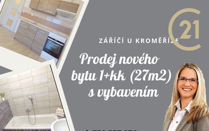 Prodej bytu 1+kk, 27m2, Záříčí