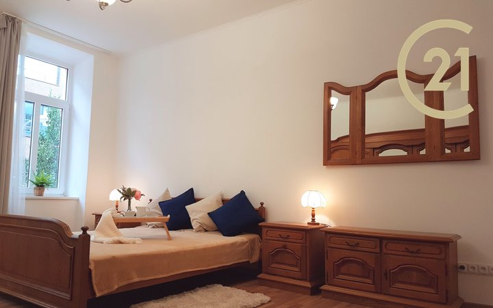 Pronájem světlého, tichého, vkusně zařízeného bytu 2+1, ul. Přízova, Brno centrum
