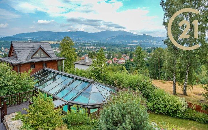 Luxusní ubytování s krytým bazénem a wellness - relax zónou