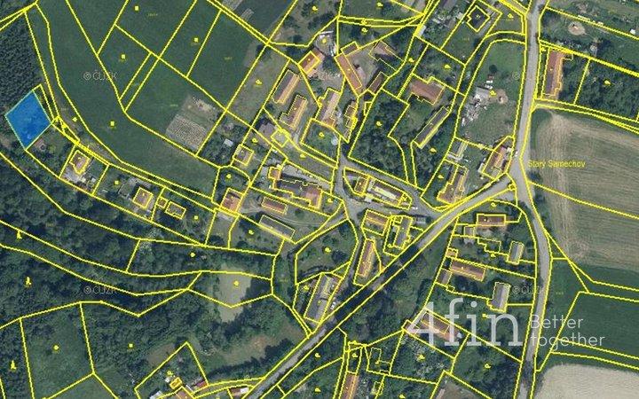 Prodej zahrady 571 m2  v obci Řendějov- St. Samechov
