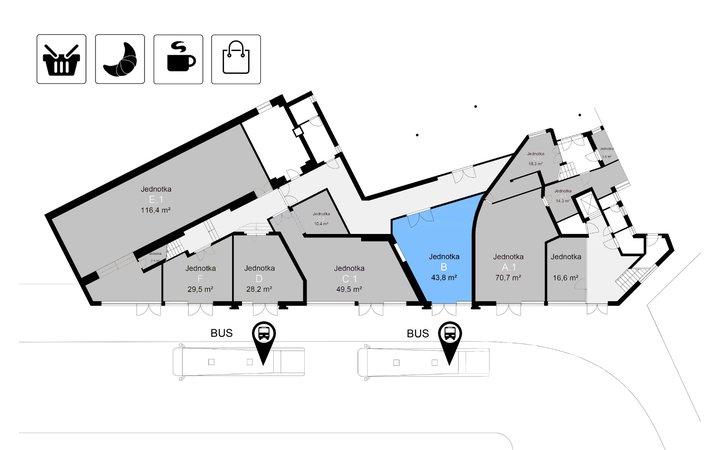Pronájem obchodních prostor, 44 m² - Třinec - Staré Město