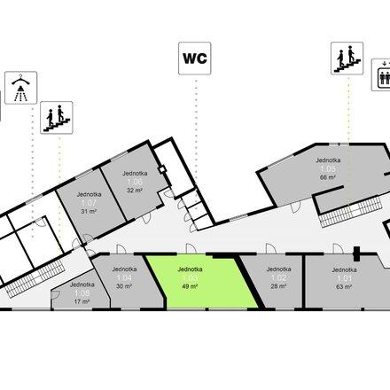 Pronájem obchodních prostor, 49 m² - Třinec - Staré Město