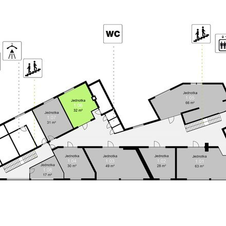 Pronájem obchodních prostor, 32 m² - Třinec - Staré Město