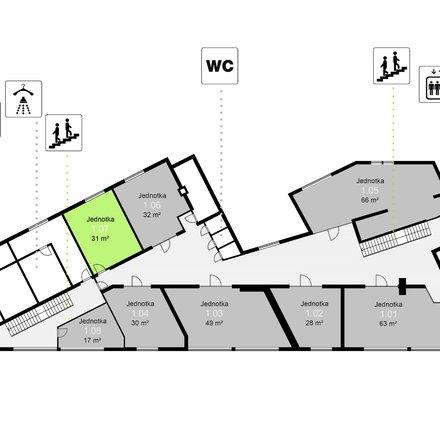 Pronájem obchodních prostor, 31 m² - Třinec - Staré Město