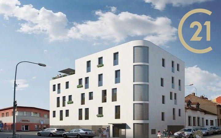 Pronájem byt 1+kk, 27m² - Košínova, Brno - Královo Pole