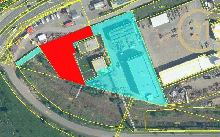 Pronájem komerční pozemek 1650 m², Plzeň - Skvrňany