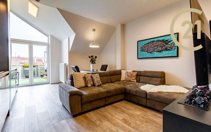 Luxusní mezonetový byt 3+kk, 88 m2, terasa 19 m2, Praha 3 - Žižkov