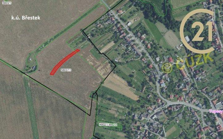 Břestek, Jalubí, Zlechov, zemědělské pozemky, CP: 5 971,5 m2