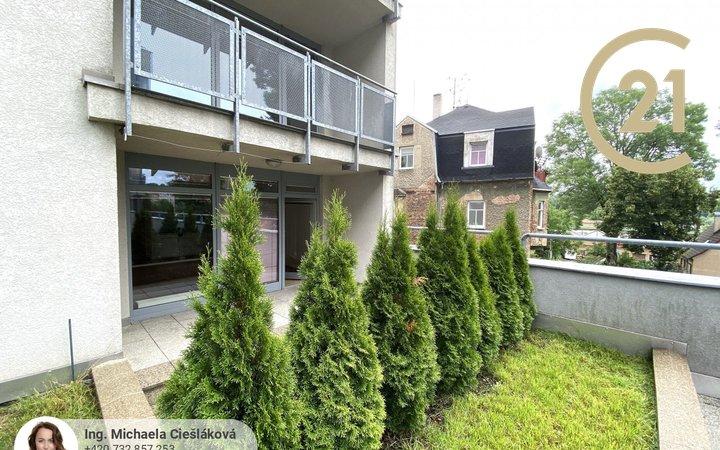 Pronájem, byt 2+kk s terasou, 45m² - Liberec V-Kristiánov