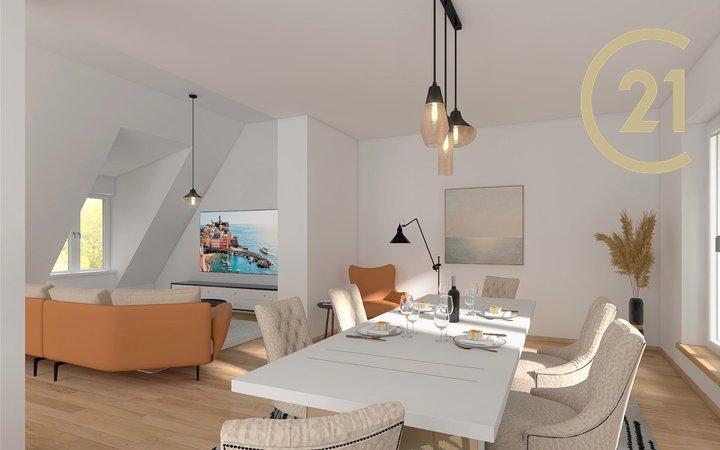 Mezonetový byt 4+kk s terasou, 135 m², ulice Erbenova, Praha 5-Košíře
